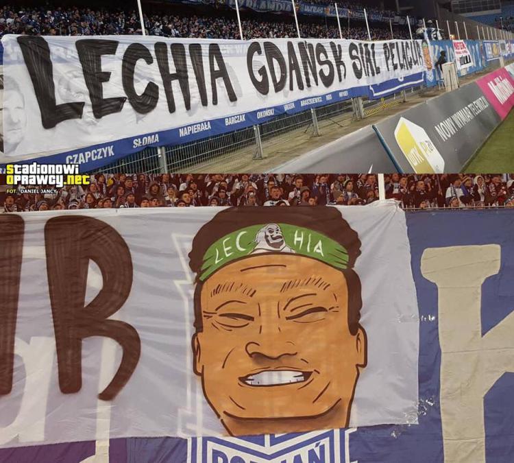 Spanduk Ultras Lech Poznan Copyright: twitter