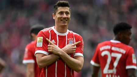 Robert Lewandowski, penyerang Bayern Munchen. - INDOSPORT