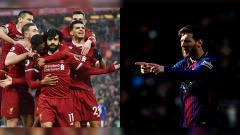 Indosport - Mohamed Salah dan Lionel Messi.
