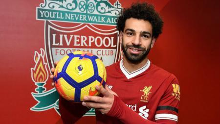 Mohamed Salah usai mencetak quattrick - INDOSPORT