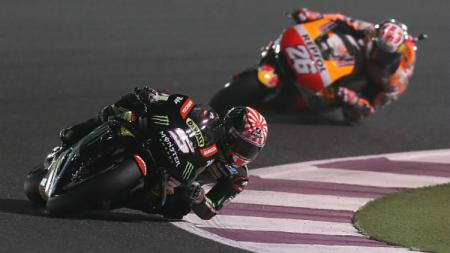 Johann Zarco asapi Marc Marquez dalam hal pembalap yang kerap terjatuh di musim MotoGP 2019. - INDOSPORT