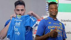 Indosport - Ezechiel N'Douassel dan Jonathan Bauman.