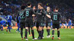 Indosport - Alvaro Morata merayakan gol bersama rekan satu timnya.