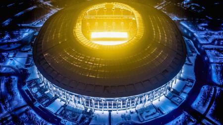 Pemandangan stadion Stadion Luzhniki dari udara. - INDOSPORT