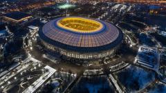 Indosport - Potret Stadion Luzhniki diambil dari atas.