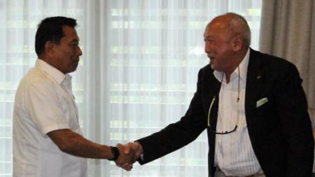 Tinton Soeprapto temui Kepala Staff Kepresidenan, Moeldoko - INDOSPORT