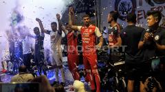 Indosport - Launching tim dan jersey Arema FC.