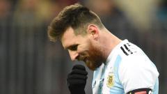 Indosport - Lionel Messi di Timnas Argentina.
