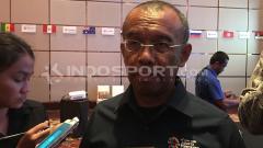 Indosport - Gatot S Dewa Barto mengatakan bahwa Kemenpora sangat mendukung program calon ketua umum KONI Pusat, namun tetap bersikap netral jelang proses pemilihan. Zainal Hasan/INDOSPORT.