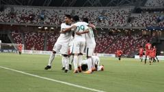 Indosport - Singapura U-23 vs Indonesia U-23.