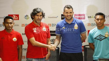 Konferensi Pers Persija dan Bhayangkara FC. - INDOSPORT