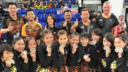 Tim Putri Malaysia di SEA Games 2017. - INDOSPORT
