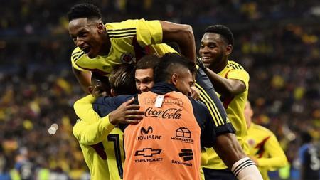 Skuat Kolombia berhasil memenangkan pertandingan atas Prancis. - INDOSPORT