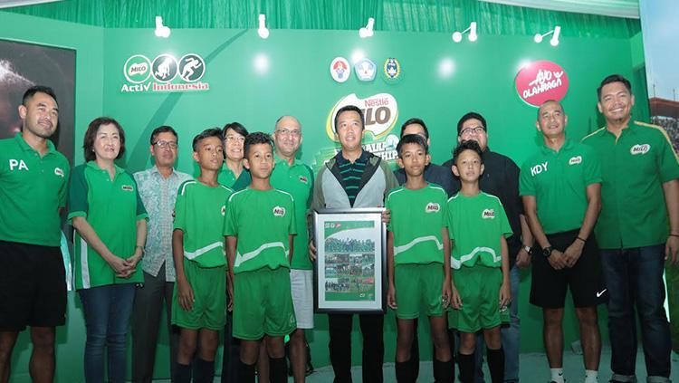 Menpora meresmikan Milo Fotball Championship bersama pihak Milo Copyright: Milo Indonesia