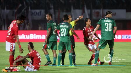 PSMS Medan saat menghadapi Bali United di laga pertama. - INDOSPORT
