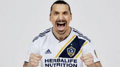 Indosport - Zlatan Ibrahimovic, penggawa LA Galaxy