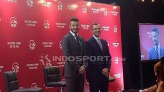 Indosport - David Beckham temui awak media di Hotel Raffles, Jakarta dalam kampanye AIA What's Your Why pada Senin(26/03/18) ini.