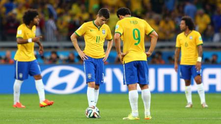 Brasil vs Jerman di semifinal Piala Dunia 2014 - INDOSPORT