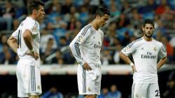 Pemain Real Madrid, Isco, Cristiano Ronaldo dan Bale.