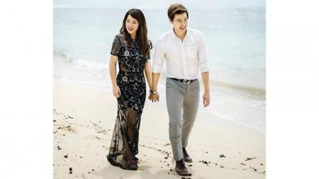 Marcus Fernaldi Gideon dan Agnes Amelinda. - INDOSPORT