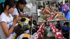 Indosport - Bola dari Majalengka dibuat dari PT. Sinjariga Santika Sport.