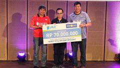 Indosport - Kocak, inilah cara pelatih Herry IP dan Aryono Miranat menentukan pasangan mana yang akan menjadi anak asuhnya di Mola TV PBSI Home Tournament.