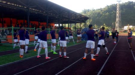 Skuat PSM Makassar di Stadion Marora - INDOSPORT