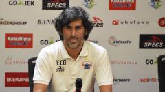 Indosport - Pelatih Persija, Stefano Cugurra Teco, di konferensi pers jelang lawan Arema FC.