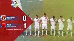 Indosport - Hasil pertandingan Perseru Serui vs PSM Makassar.