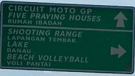 Petunjuk arah Sirkuit MotoGP di Palembang. - INDOSPORT