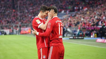 Lewandowski dan James Rodriguez - INDOSPORT