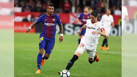 Suasana pertandingan Barcelona vs Sevilla. - INDOSPORT