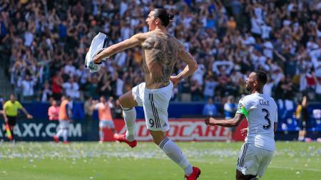 Zlatan Ibrahimovic cetak gol perdana di MLS. - INDOSPORT