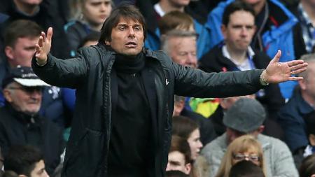 Antonio Conte kabarnya ingin melepas Mauro Icardi yang sebelumnya sempat bermasalah dengan Inter Milan. - INDOSPORT