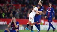 Indosport - Pasca laga Sevilla vs Barcelona.