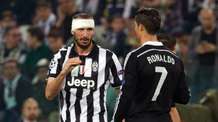 Chiellini dan Ronaldo - INDOSPORT