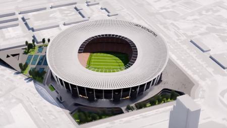 Desain Nou Mestalla kandang Valencia. - INDOSPORT
