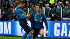 Indosport - Selebrasi Ronaldo setelah bobol gawang Buffon di menit awal.
