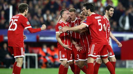 Selebrasi para pemain Bayern Munchen. - INDOSPORT