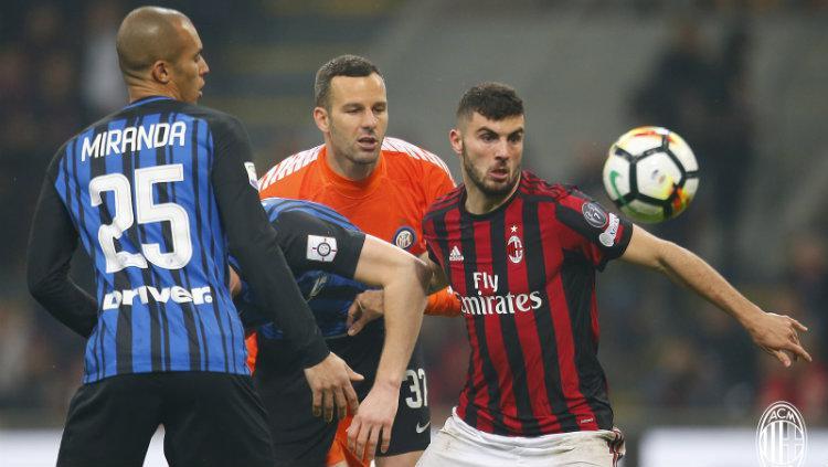 AC Milan vs Inter Milan. Copyright: Twitter@acmilan