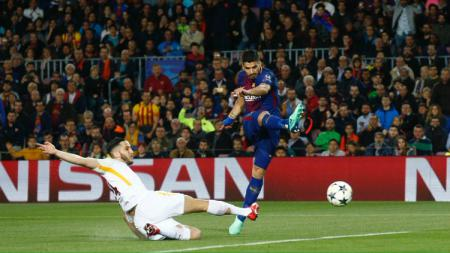 Barcelona vs AS Roma. - INDOSPORT