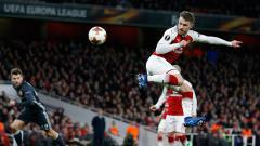 Indosport - Aaron Ramsey menyumbang dua gol di babak pertama bagi Arsenal saat melawan CSKA Moskow.