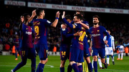 Saat merayakan gol pertama - INDOSPORT