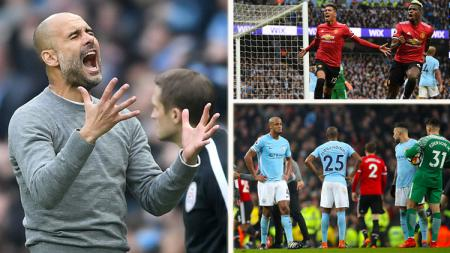 Man City vs Man United. - INDOSPORT