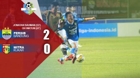 Hasil pertandingan Persib Bandung vs Mitra Kukar. - INDOSPORT