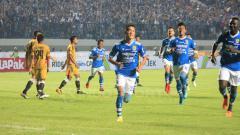Indosport - Oh In-kyun merayakan gol.