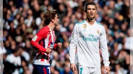 Cristiano Ronaldo dan Antoine Griezmann - INDOSPORT