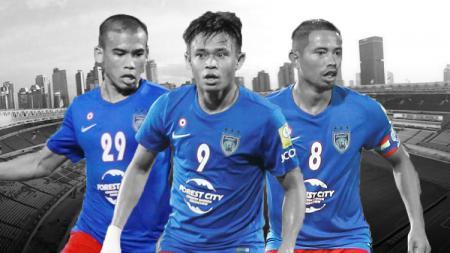 Johor Darul Takzim (JDT) berhasil meraih gelar juara Liga Super Malaysia usai mengalahkan Melaka United dengan skor tipis 2-1. - INDOSPORT