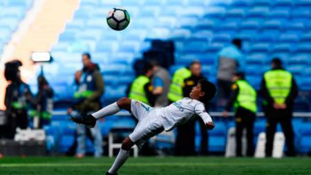 Pernah bermain di Real Madrid dan kini di Juventus, anak tertua Cristiano Ronaldo diincar oleh salah satu klub kasta teratas sepak bola Portugal, Sporting CP. - INDOSPORT