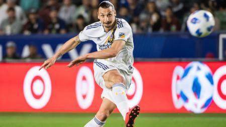 Zlatan Ibrahimovic di laga kedua LA Galaxy. - INDOSPORT